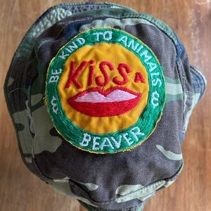 Vintage Standard Issue Camo Hat w/ BEAVER patch